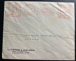 1941 Copenhagen Denmark Meter Cancel Commercial Cover To Grenaa