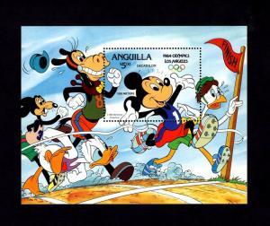 ANGUILLA - 1984 - DISNEY - MICKEY - OLYMPICS - RINGS - MINT - MNH S/SHEET!