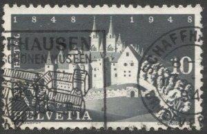 SWITZERLAND 1948  10c Used Sc 313  VF, Castle