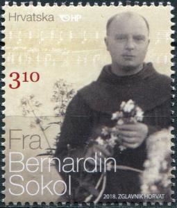 Croatia 2018. 130th birthday of Father Bernardin Sokol (MNH OG) Stamp