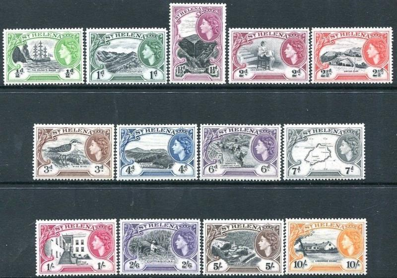 ST HELENA-1953-59 Set to 10/- Sg 153-165 LIGHTLY MOUNTED MINT V23470