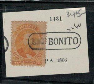 Brazil SC 60 Cancel 1431 PA 1866 VFU (4ehv)