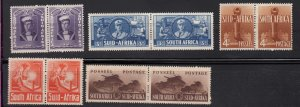 J28453, 1941-3 south africa part of mhr set #84-8 , $48.40 scv