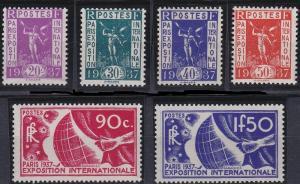 France 315-320 MNH (1936)