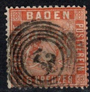 Baden #13  F-VF Used  CV $72.50  (X5200)