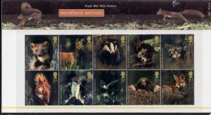 Great Britain 2004 Woodland Animals perf se-tenant block ...