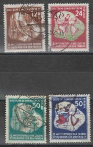 EAST GERMANY 1951 YOUTH FESTIVAL SET USED
