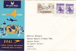 1959, 1st Flt., B.O.A.C., Beirut, Lebanon, See Remark (38863)