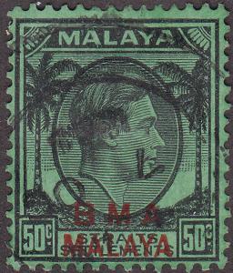 Malaysia BMA 267 USED 1948 King George VI O/P