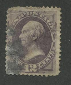 1870 US Stamp #151 12c Used Thin Average Catalogue Value $210