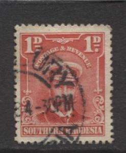 Southern Rhodesia- Scott 2 - KGV - Definitives  -1924 - FU - Single 1d Stamp