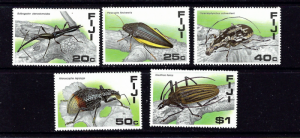 Fiji 574-78 MNH 1987 Insects