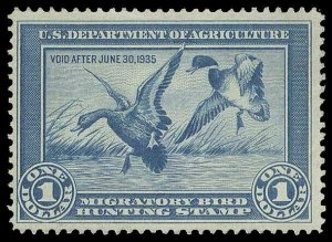 U.S. REV. DUCKS RW1  Mint (ID # 89653)
