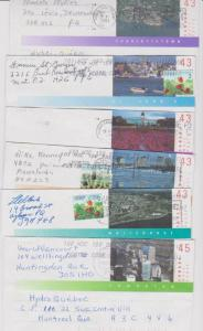 CANADA POSTAGE STATIONERY STAMPS USED LOT#PC7