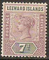 1890 Leeward Islands Scott 6 Queen Victoria MH