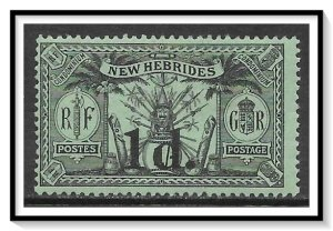 New Hebrides - British #27 Native Idols Surcharged MH