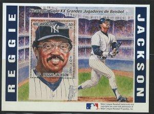 Nicaragua Scott 2169 MNH! Baseball Reggie!