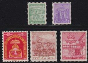Nepal 1956 SC 84-88 MNH