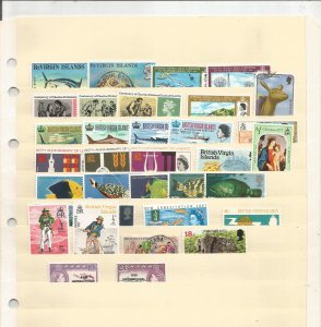 VIRGIN ISLANDS COLLECTION ON STOCK SHEET