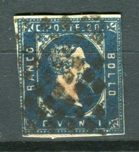 ITALY; SARDINIA 1851 early classic Imperf issue fine used 20c. value