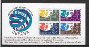 Guyana MNH S/S 221A Women's Year 1975