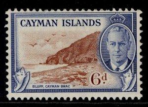 CAYMAN ISLANDS GVI SG142, 6d red-brown & blue, M MINT.