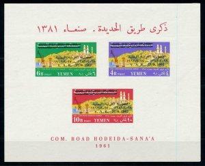 [77619] Yemen YAR 1963 Completion Road Hodeida Sana-a OVP 27.9.1962 Sheet MNH