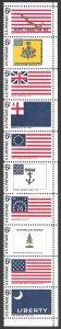 USA 1345-1354: 6c US Flags, MNH, VF