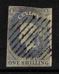 Ceylon SG# 10 - Used / Possible Tiny Shallow Thin - Lot 090317