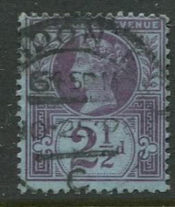 Great Britain - Scott 114 - QV Definitive - 1887-92 - Used - 2.1/2p Stamp