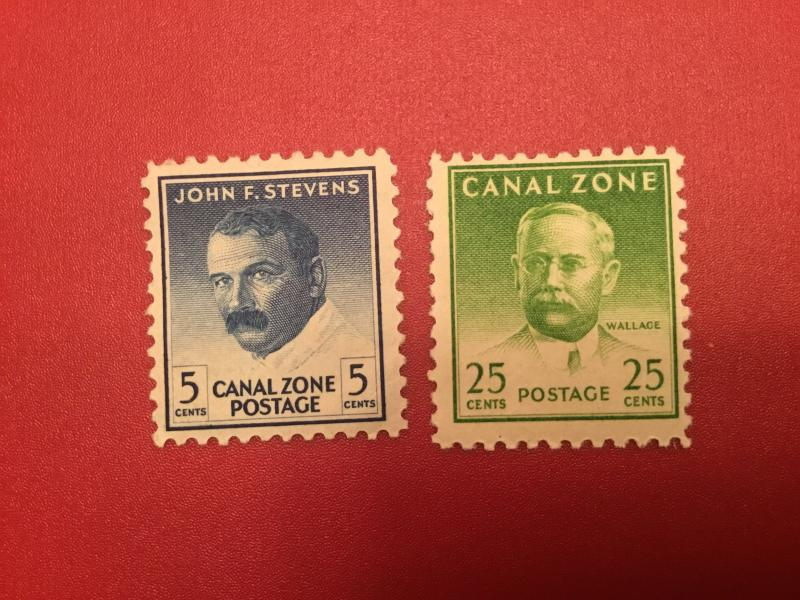 US Canal Zone #139-140 VF  LH