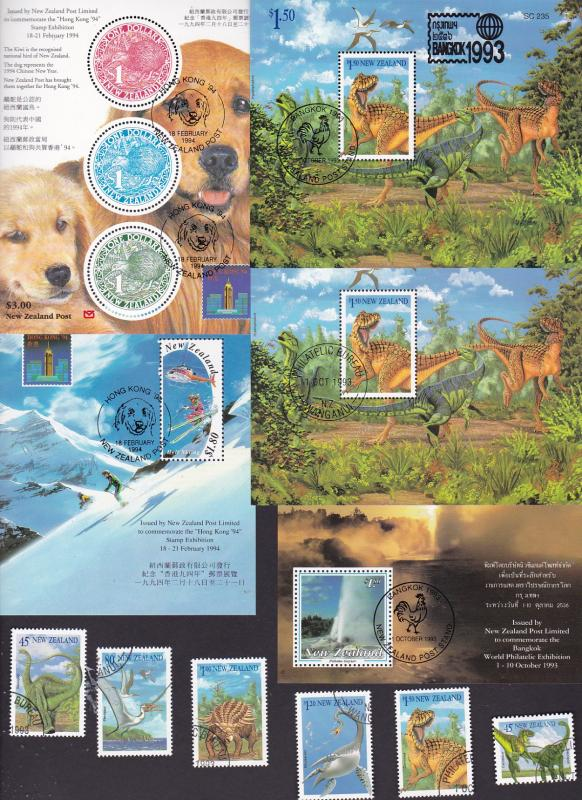 New Zealand x 5 mini sheets & 1 set CTO