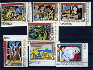 Equatorial Guinea 1975 PICASSO Paintings Set (7) Perforated Mint (NH)