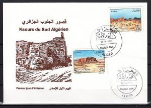 Algeria, Scott cat. 1242-1243, Villages of Southern Algeria. First day cover.