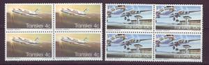 J19045 Jlstamps 1977 so africa-transkel set mnh blk,s/4 #22-3 airplanes