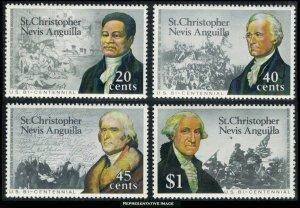 Saint Kitts-Nevis Scott 324-327 Mint never hinged.