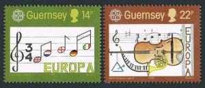 Guernsey 314-315,MNH.Michel 161-162. EUROPE CEPT-1985,Musical staff.