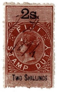 (I.B) Fiji Revenue : Stamp Duty 2/-