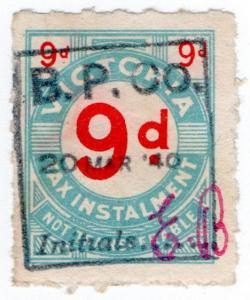 (I.B) Australia - Victoria Revenue : Tax Instalment 9d (1938)