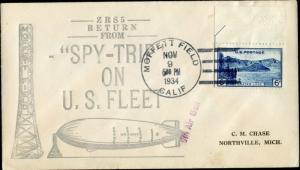 1934 MOFFETT FLD, CA/AIGLON SOC#101 SILVER CHT BM1227