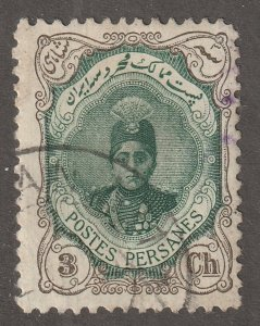 Persian stamp,  Scott#483(D),  used,  hinged,  Perf 11.5 x11.0,   3ch,  #483D
