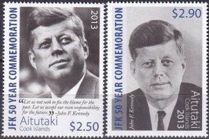 Aitutaki #615-6   MNH $9.00 (Z9642)