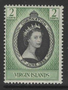 VIRGIN ISLANDS SG148 1953 CORONATION MNH