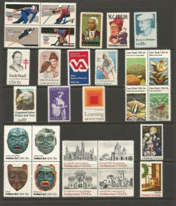 USA Postal Stamps MNH 1980 Commemoratives (28 stamps)