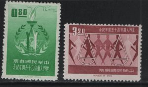 CHINA, 1379-1380, NO GUM AS ISSUED, MNH, 1963, Universal decoration of human rig