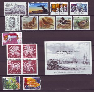 Z881 JLstamps 1987 iceland mnh year set #637-up