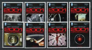 Isle of Man IOM 2018 MNH 2001 Space Odyssey Arthur C Clarke 8v Set Movies Stamps