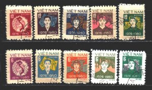Vietnam. 1979. 1028a-37a. five year plan. USED.