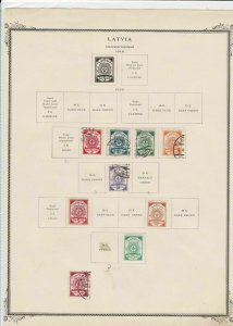 latvia 1919 stamps on page ref r9129