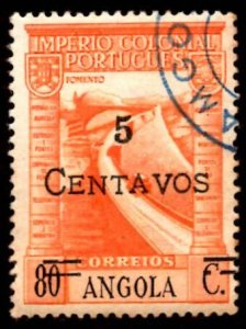 Angola SURCHARGED 1945 Barrage, Vasco da Gama Issue '5c on 80c' Sc.301 Used (#3)